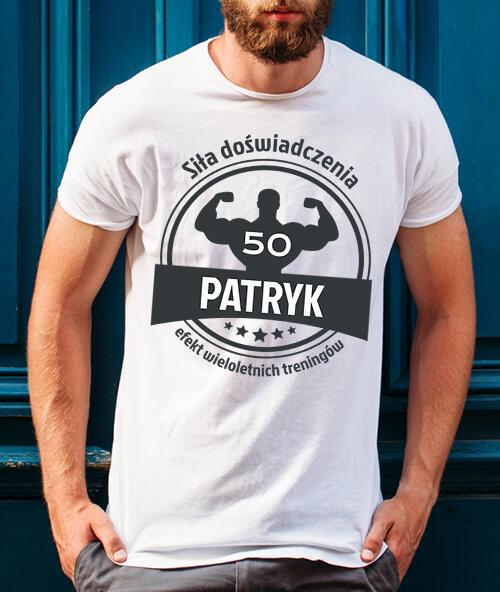 Koszulka urodzinowa 50 lat Siła doświadczenia